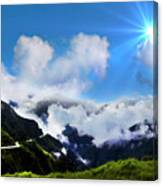Highway Through The Andes - Painting Canvas Print