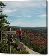 Hiker In Acadia National Park Canvas Print