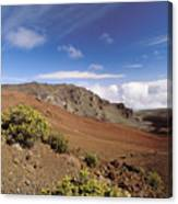 Hikers Inside Haleakala  Canvas Print