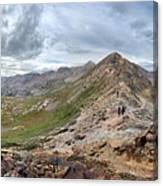 Hikers On Columbine Pass - Weminuche Wilderness - Colorado Canvas Print