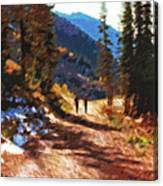 Hiking Couple In The Wasatch Canvas Print