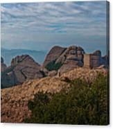 Hiking In Montserrat Spain Canvas Print