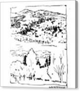Hiking The Rockies Canvas Print