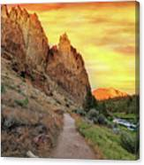 Hiking Trail At Smith Rock State Park Canvas Print