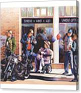Hilda Hogs And Harleys Canvas Print