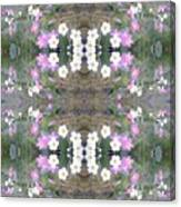 Hill Of Flowers Double Canvas Print