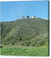 Hill With A House Canvas Print