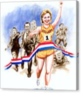 Hillary And The Race Canvas Print