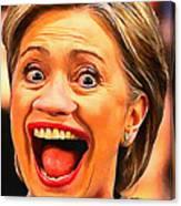 Hillary Clinton Canvas Print
