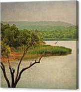 Hills And Lake In The Spring Canvas Print