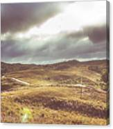 Hills And Outback Tracks Canvas Print