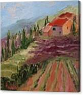 Hills Of Lavender Canvas Print