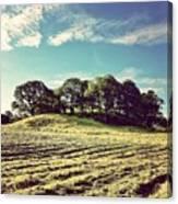 #hills #trees #landscape #beautiful Canvas Print