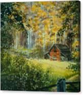 Hillside Barn Canvas Print