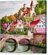 Hillside Village Canvas Print