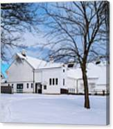 Hilltip Farm In Snow Canvas Print