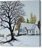 Hilltop Church Canvas Print