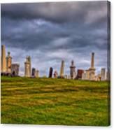 Hilltop Graveyard Canvas Print
