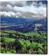 Hilly Terrain Canvas Print