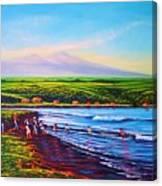 Hilo Bay Net Fisherman Canvas Print