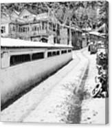 Himalayan Winter Scene Canvas Print
