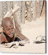 Himba Boy With Sandal Canvas Print