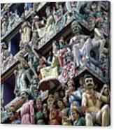 Hindu Temple In Singapore Canvas Print