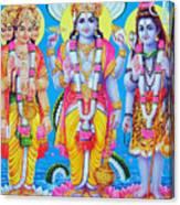 Hindu Trinity Brahma Vishnu Shiva Canvas Print