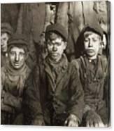 Hine: Breaker Boys, 1911 Canvas Print