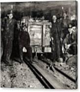 Hine: Coal Miners, 1911 Canvas Print