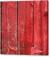 Hinge On A Red Barn Canvas Print