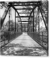 Hinkson Creek Bridge In Black And White Canvas Print