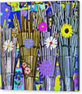 Hippie Hippie Straws Canvas Print