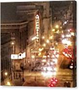 Hippodrome In Baltimore At Night Canvas Print