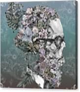 Hipster Floral Skull 2 Canvas Print