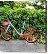 Hire Bike Canvas Print