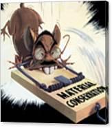 Hirohito As A Rat Canvas Print