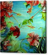 Hiroko's Hibiscus 4 Canvas Print