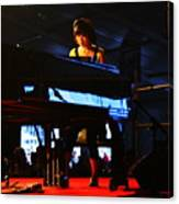 Hiromi And Her Piano Canvas Print