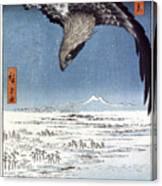 Hiroshige: Edo/eagle, 1857 Canvas Print