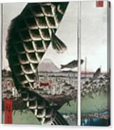 Hiroshige: Kites, 1857 Canvas Print