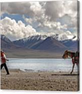 His Horse, Tibet, 2007  Canvas Print
