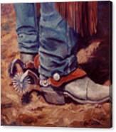 His Silver Spurs Painting Cowboy Art Canvas Print