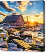 Historic Anderson Dock In Ephraim Door County Canvas Print