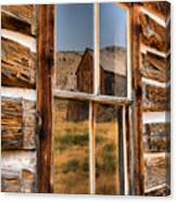 Historic Bannack Mining Reflections Canvas Print
