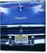 Historic Chrysler Front End Canvas Print