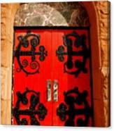Historic Church Doors Canvas Print