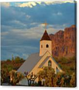 Historic Church In Superstition Mountain State Park Canvas Print