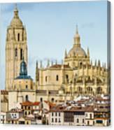 Historic City Of Segovia Canvas Print