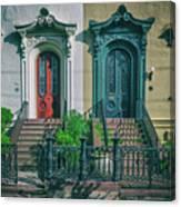Historic Doors Of Charleston On Bull St Canvas Print